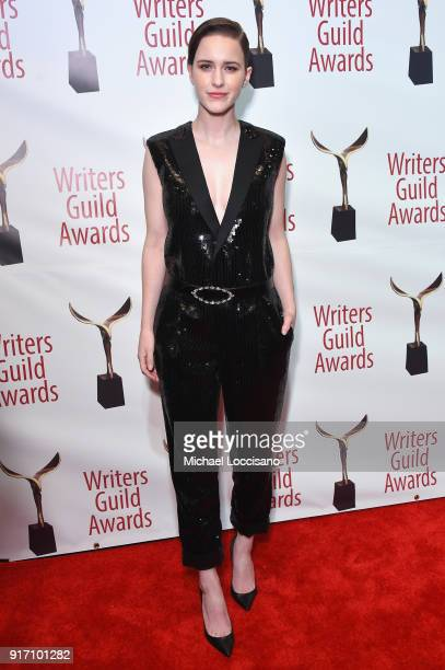 Actor Rachel Brosnahan attends the 70th Annual Writers Guild Awards New York at Edison Ballroom on February 11 2018 in New York City