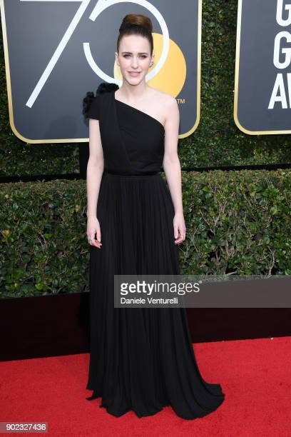 Actor Rachel Brosnahan attends The 75th Annual Golden Globe Awards at The Beverly Hilton Hotel on January 7 2018 in Beverly Hills California