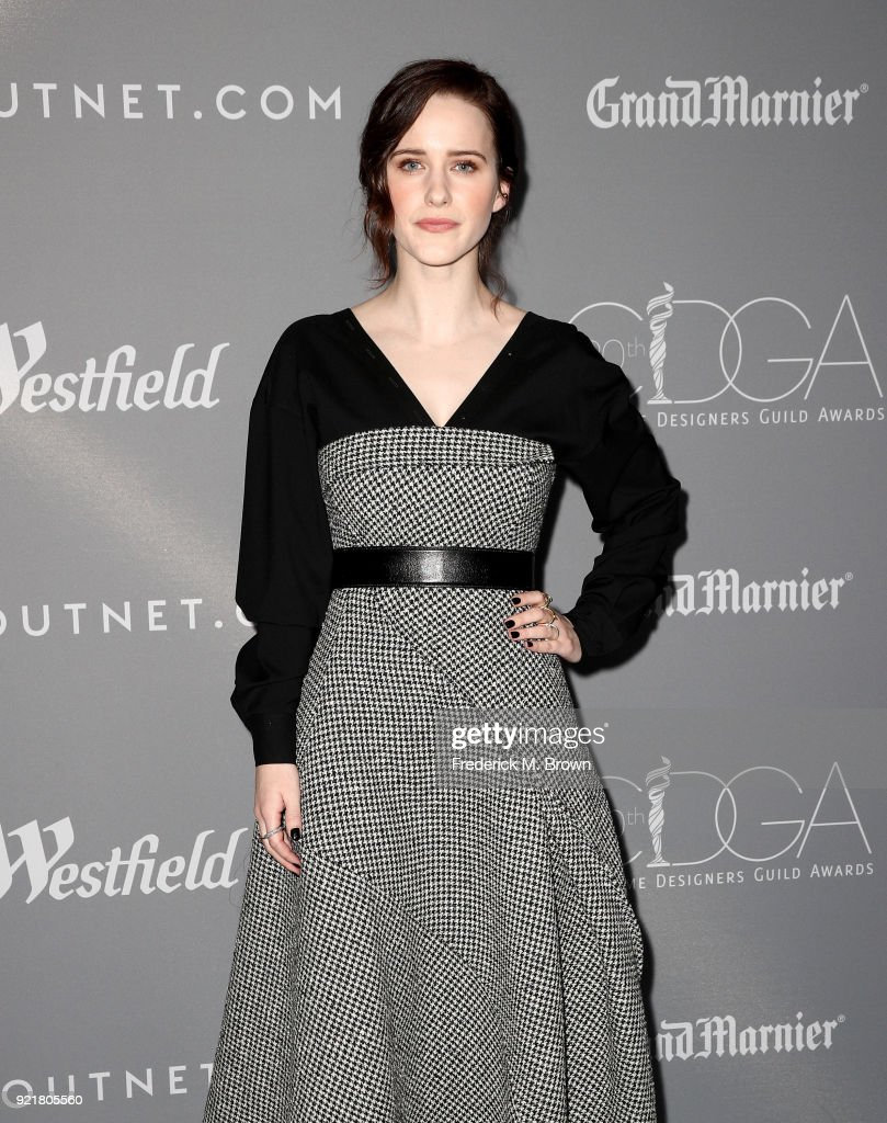 Actor Rachel Brosnahan attends the Costume Designers Guild Awards at The Beverly Hilton Hotel on February 20, 2018 in Beverly Hills, California.