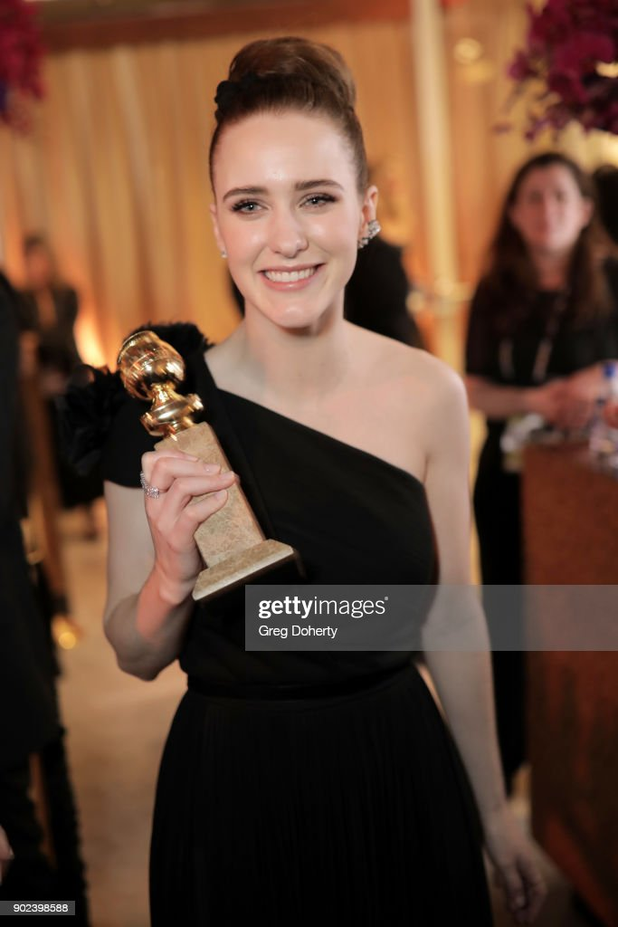Actor Rachel Brosnahan, winner of the award for Best Performance by an Actress in a Television Series (Musical or Comedy) for 'The Marvelous Mrs. Maisel,' attends the Official Viewing and After Party of The Golden Globe Awards bosted by The Hollywood Foreign Press Association on January 7, 2018 in Beverly Hills, California.