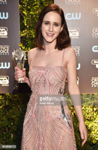 Actor Rachel Brosnahan winner of the Best Actress in a Comedy Series award for 'The Marvelous Mrs Maisel' attends The 23rd Annual Critics' Choice...