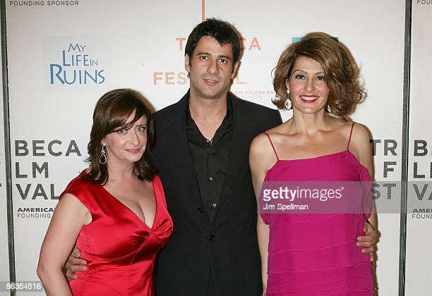 Actor Rachel Dratch Alexis Georgoulis and Nia Vardalos attend the premiere of My Life in Ruins during the 8th Annual Tribeca Film Festival at BMCC...