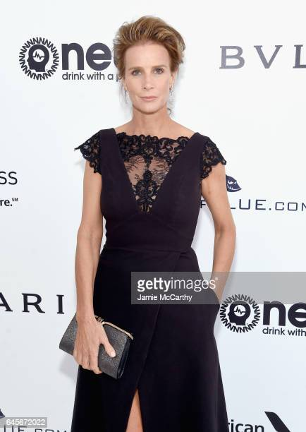 Actor Rachel Griffiths attends the 25th Annual Elton John AIDS Foundation's Academy Awards Viewing Party at The City of West Hollywood Park on...