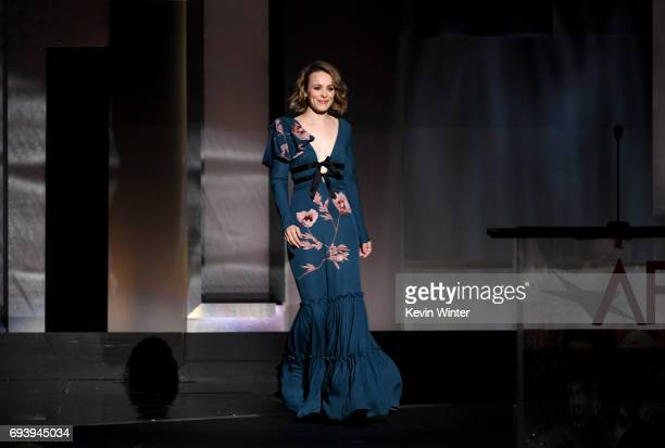 Actor Rachel McAdams walks onstage during American Film Institute's 45th Life Achievement Award Gala Tribute to Diane Keaton at Dolby Theatre on June...