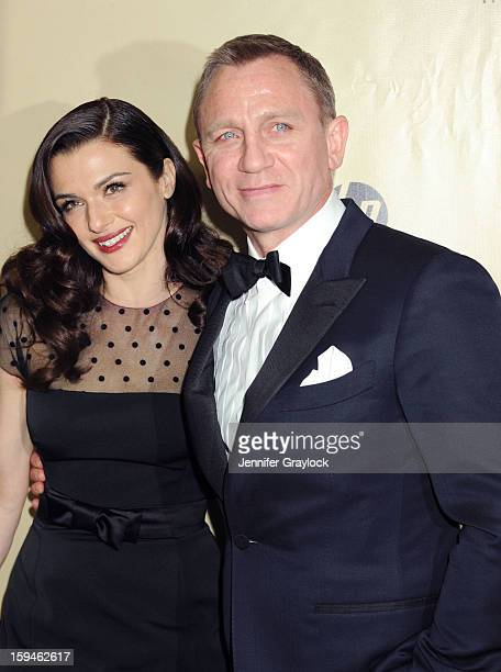 Actor Rachel Weisz and her husband actor Daniel Craig attend The Weinstein Company's 2013 Golden Globes After Party held at The Old Trader Vic's in...