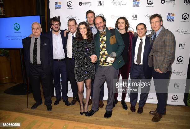 Actor Rachel Weisz Director Luca Guadagnino and the cast of Call Me by Your Name pose with the Best Feature Film award in the GreenSlate Greenroom...