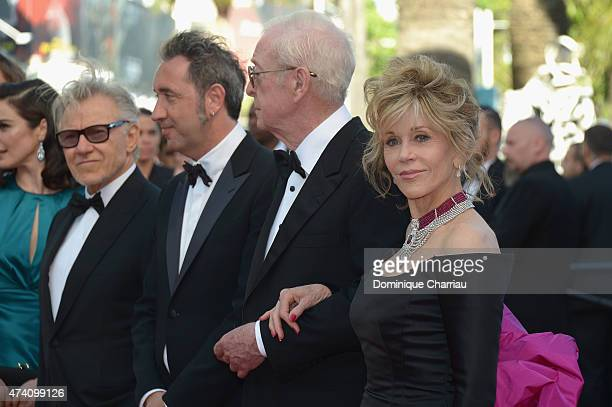 Actor Rachel Weisz director Paolo Sorrentino and actors Michael Caine and Jane Fonda attend the Youth Premiere during the 68th annual Cannes Film...
