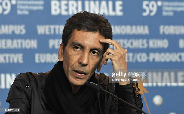 Actor Rachid Bouchareb attends the 'London River' press conference during the 59th Berlin International Film Festival at the Grand Hyatt Hotel on...