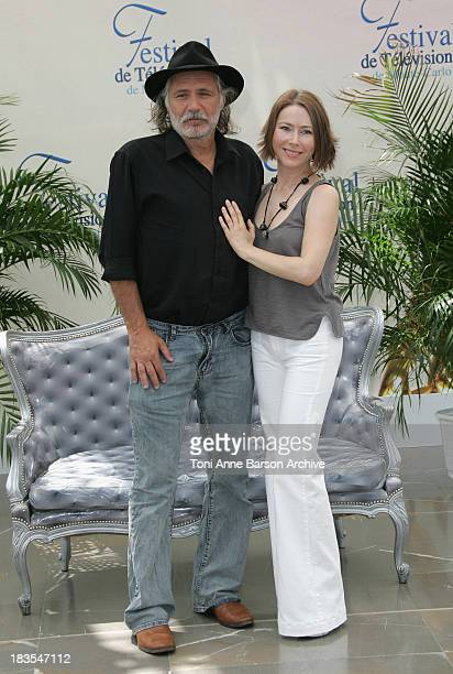 Actor Rade Serbedzija and actress Agata Gotova attend a photocall promoting the television series 'Say It In Russian' on the third day of the 2008...