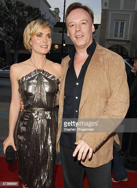 Actor Radha Mitchell and director Christophe Gans attend the premiere of TriStar Pictures' Silent Hill at the Egyptian Theatre on April 20 2006 in...
