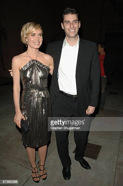 Actor Radha Mitchell and Sony's Marc Weinstock attend the premiere of TriStar Pictures' Silent Hill at the Egyptian Theatre on April 20 2006 in...