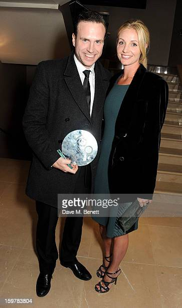 Actor Rafe Spall and Elize Du Toit attend an after party following the London Critics Circle Film Awards at Quince Restaurant, The May Fair Hotel on...