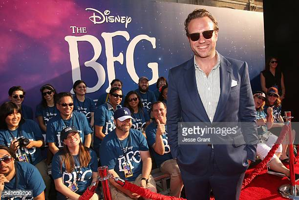 Actor Rafe Spall arrives on the red carpet for the US premiere of Disney's The BFG directed and produced by Steven Spielberg A giant sized crowd...
