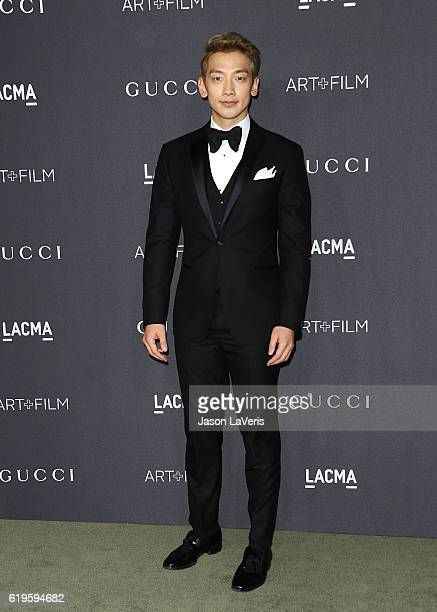 Actor Rain attends the 2016 LACMA Art + Film gala at LACMA on October 29, 2016 in Los Angeles, California.