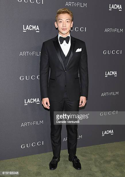 Actor Rain attends the 2016 LACMA Art Film Gala Honoring Robert Irwin and Kathryn Bigelow Presented By Gucci at LACMA on October 29 2016 in Los...