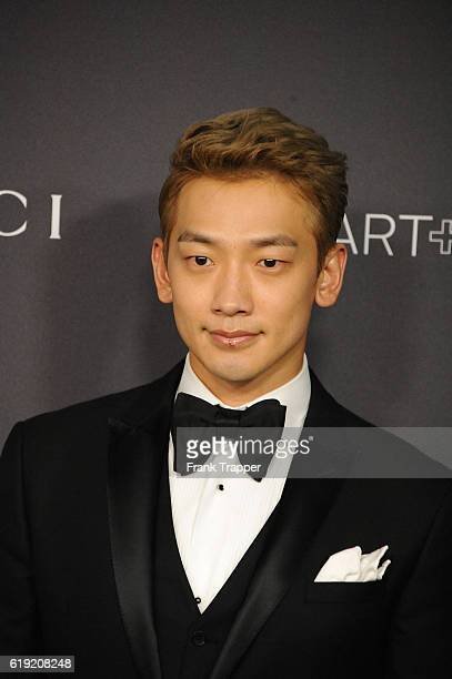 Actor Rain attends the 2016 LACMA Art Film Gala Honoring Robert Irwin and Kathryn Bigelow at LACMA on October 29 2016 in Los Angeles California