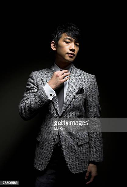 Actor Rain poses for a portrait session to promote the movie 'I am a Cyborg But That's Ok' during the 57th Berlin International Film Festival on...