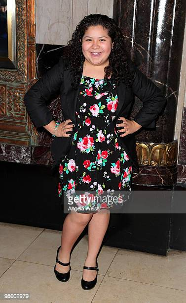 Actor Raini Rodriguez attends the opening night of 'Chicago' at the Pantages Theatre on April 21 2010 in Hollywood California
