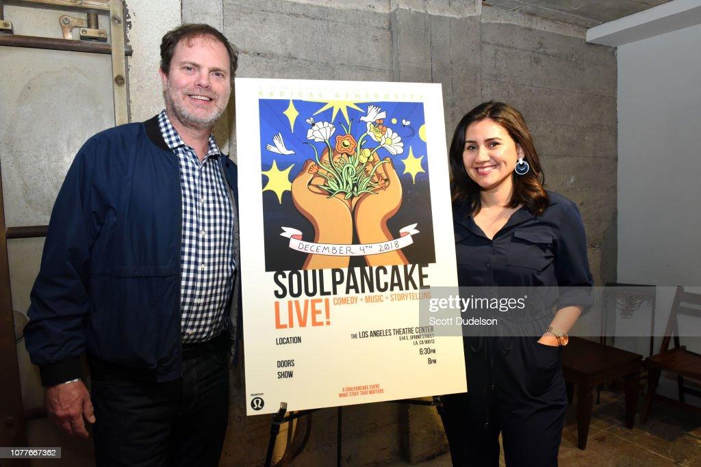 Actor Rainn Wilson and SoulPancake CEO Shabnam Mogharabi attend