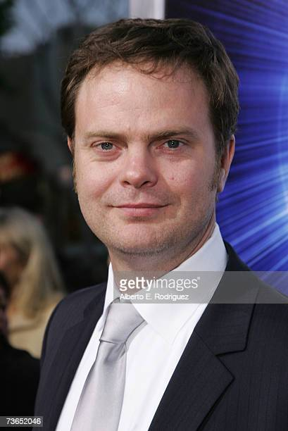 Actor Rainn Wilson arrives at the premiere of New Line's The Last Mimzy held at the The Mann Village Theatre on March 20 2007 in Westwood California