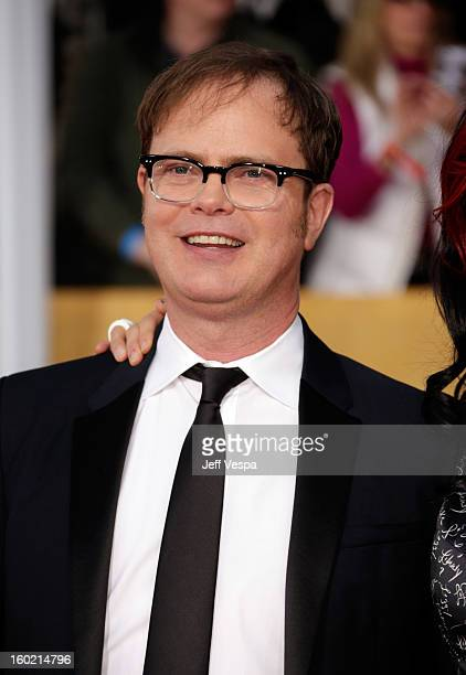 Actor Rainn Wilson arrives at the19th Annual Screen Actors Guild Awards held at The Shrine Auditorium on January 27 2013 in Los Angeles California