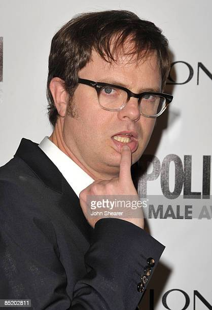 Actor Rainn Wilson arrives to Cosmopolitan's 2009 Fun Fearless Awards at SLS Hotel on March 2, 2009 in Beverly Hills, California.