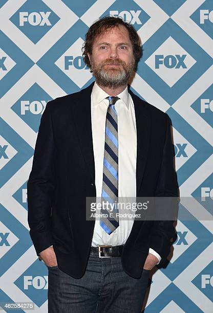 Actor Rainn Wilson arrives to the 2014 Fox AllStar Party at the Langham Hotel on January 13 2014 in Pasadena California