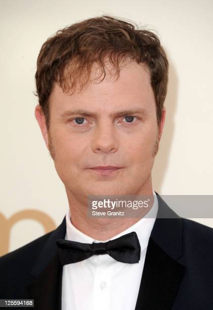 Actor Rainn Wilson arrives to the 63rd Primetime Emmy Awards at the Nokia Theatre LA Live on September 18 2011 in Los Angeles United States