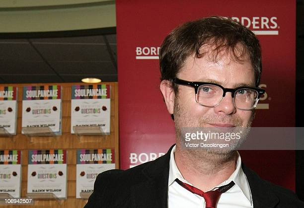 Actor Rainn Wilson attends a book signing for his book 'SoulPancake' on November 17 2010 in Los Angeles California