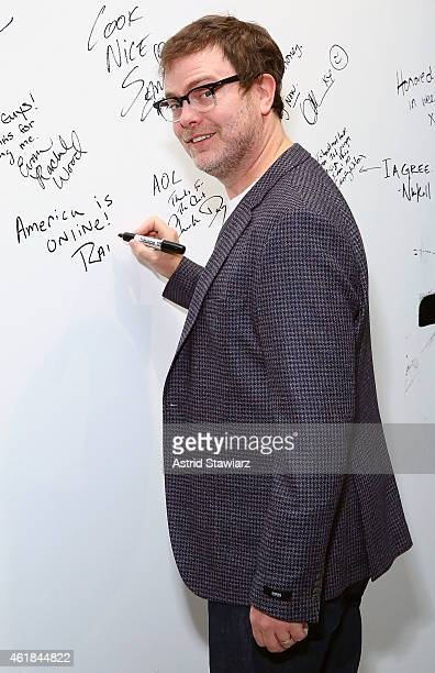 Actor Rainn Wilson attends AOL Build Speaker Series at AOL Studios on January 20 2015 in New York City