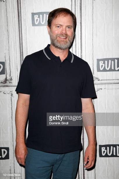 Actor Rainn Wilson attends Build Series to discuss the film 'The Meg' at Build Studio on August 8, 2018 in New York City.