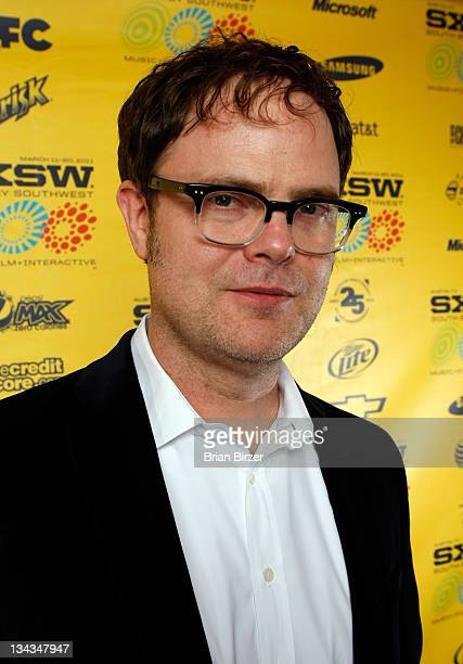 """Actor Rainn Wilson attends the 2011 SXSW Music, Film + Interactive Festival """"Super"""" Premiere at Paramount Theater on March 12, 2011 in Austin, Texas."""