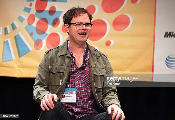 Actor Rainn Wilson attends the 2011 SXSW Music Film Interactive Festival Super Panel at Austin Convention Center on March 12 2011 in Austin Texas