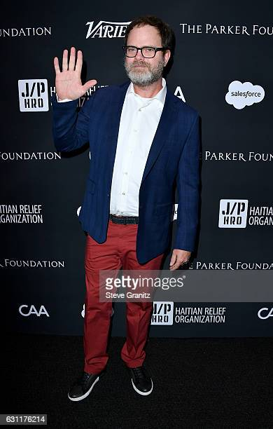 Actor Rainn Wilson attends the 6th Annual Sean Penn Friends HAITI RISING Gala Benefiting J/P Haitian Relief Organization at Montage Beverly Hills on...