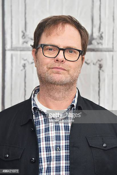 Actor Rainn Wilson attends the AOL BUILD Speaker Series The Bassoon King My Life in Art Faith and Idiocy at AOL Studios In New York on November 9...
