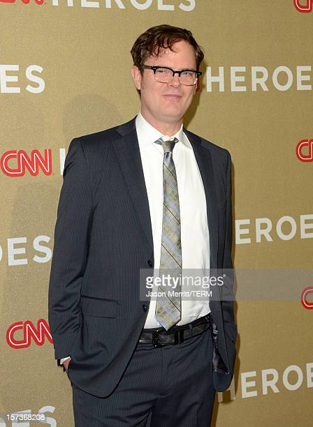 Actor Rainn Wilson attends the CNN Heroes An All Star Tribute at The Shrine Auditorium on December 2 2012 in Los Angeles California...