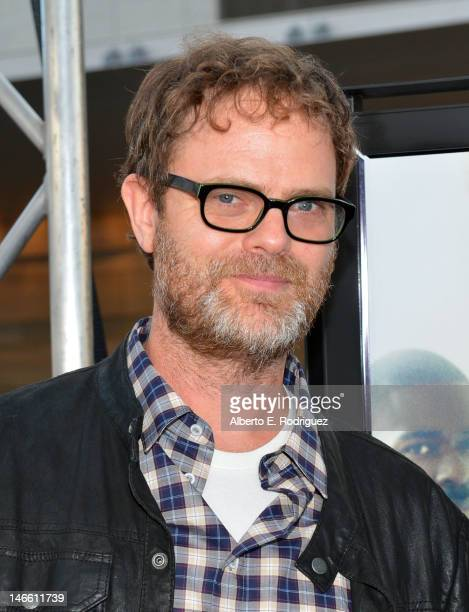 Actor Rainn Wilson attends the Middle Of Nowhere premiere during the 2012 Los Angeles Film Festival at Regal Cinemas LA Live on June 20 2012 in Los...