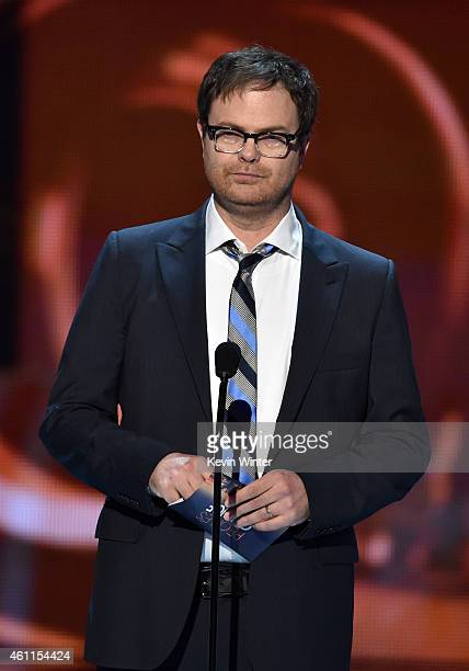 Actor Rainn Wilson speaks onstage at The 41st Annual People's Choice Awards at Nokia Theatre LA Live on January 7 2015 in Los Angeles California