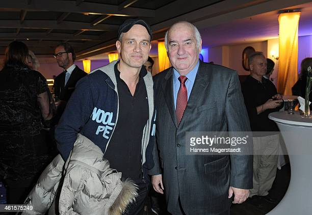 Actor Ralf Bauer and Werner Weidenfeld attend the roof garden opening at Hotel Bayerischer Hof on January 9 2014 in Munich Germany