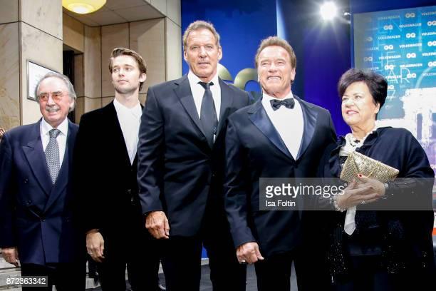 Actor Ralf Moeller US actor Arnold Schwarzenegger his son Patrick Schwarzenegger and guests arrive for the GQ Men of the year Award 2017 at Komische...