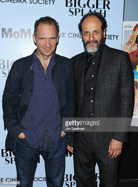 Actor Ralph Fiennes and director Luca Guadagnino attend the screening of 'A Bigger Splash' hosted by Fox Searchlight Pictures with The Cinema Society...