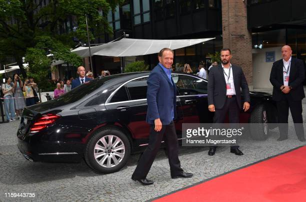 Actor Ralph Fiennes arrives at the CineMerit Gala for Ralph Fiennes during the Munich Film Festival at Gasteig on July 01, 2019 in Munich, Germany....