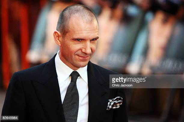 Actor Ralph Fiennes arrives at the World Premiere for The Duchess at Odeon Leicester Square on September 3 2008 in London England