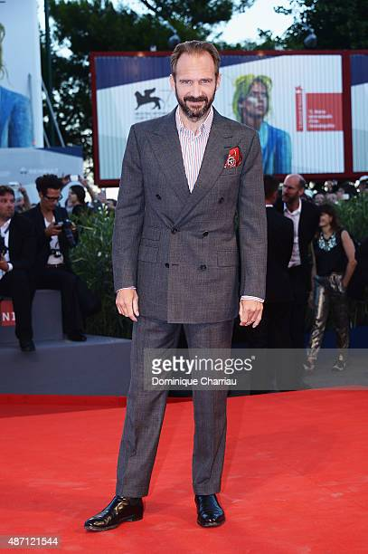 Actor Ralph Fiennes attends a premiere for 'A Bigger Splash' during the 72nd Venice Film Festival at Sala Grande on September 6 2015 in Venice Italy