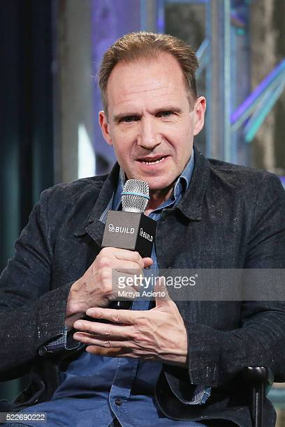 """Actor Ralph Fiennes attends AOL Build Series to discuss """"A Bigger Splash"""" at AOL Studios In New York on April 20, 2016 in New York City."""