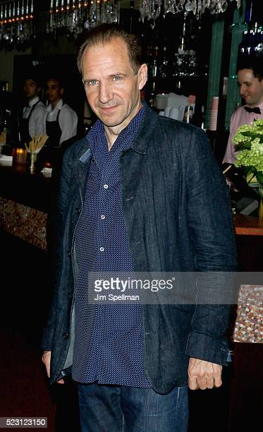 Actor Ralph Fiennes attends the after party for the screening of 'A Bigger Splash' hosted by Fox Searchlight Pictures with The Cinema Society at Sant...
