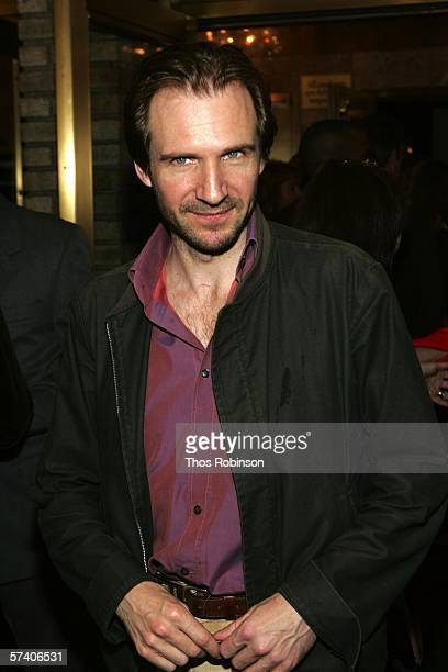 Actor Ralph Fiennes attends the Broadway opening Of 'The History Boys' at Broadhurst Theatre on April 23 2006 in New York City