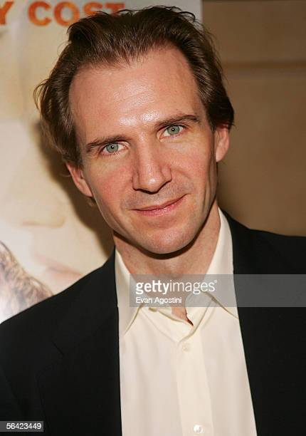 """Actor Ralph Fiennes attends the Film Society of Lincoln Center's """"An Evening With Ralph Fiennes"""" at Avery Fisher Hall December 12, 2005 in New York..."""