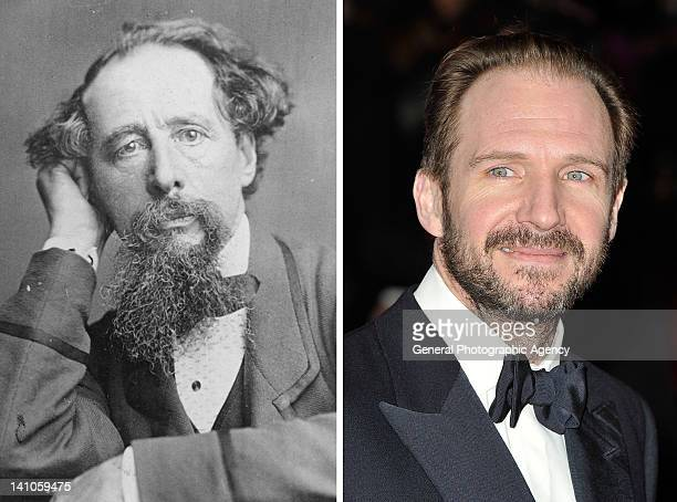 In this composite image a comparison has been made between Charles Dickens and actor Ralph Fiennes Ralph Fiennes will reportedly play Charles Dickens...