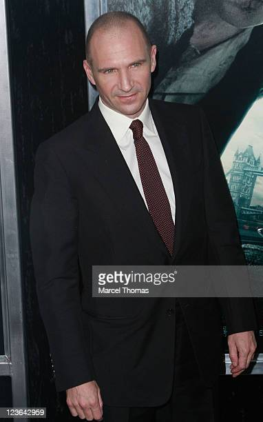 Actor Ralph Fiennes attends the premiere of Harry Potter and the Deathly Hallows Part 1 at Alice Tully Hall on November 15 2010 in New York City